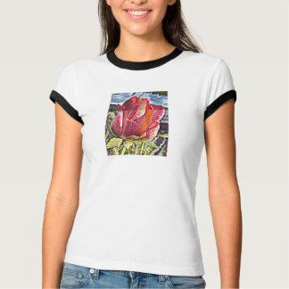 Black knows ladies Ringer shirt - rose picture