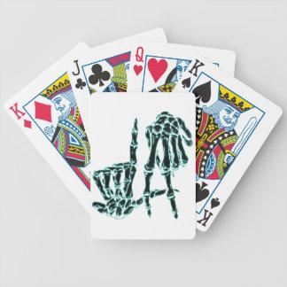 black la bicycle playing cards