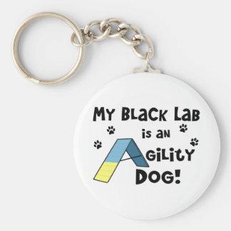 Black Lab Agility Dog Keychain