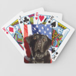 Black Lab and Flag Bicycle Card Deck