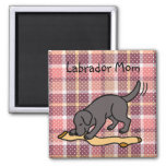 Black Lab and Stocking Magnets