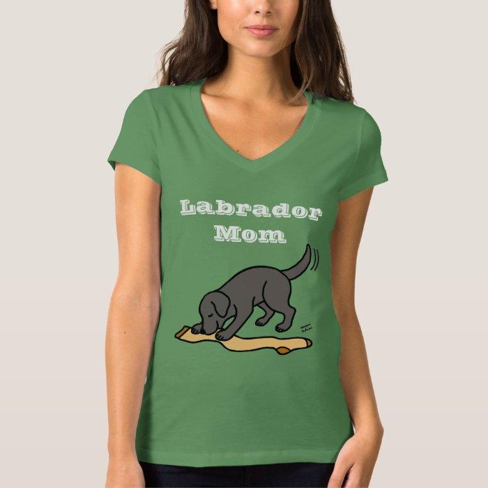 Black Lab and Stocking T-Shirt