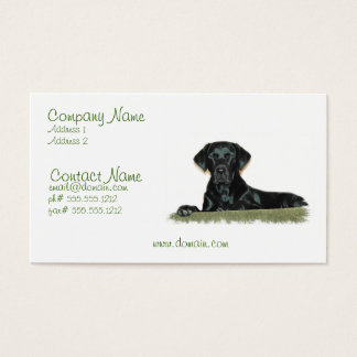 Black Lab Business Card