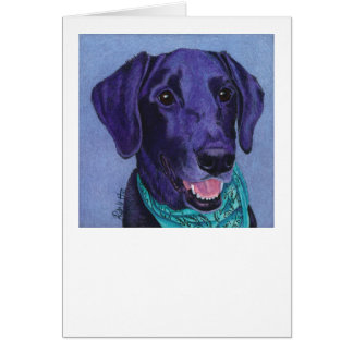 "Black Lab Card - ""Gus"""