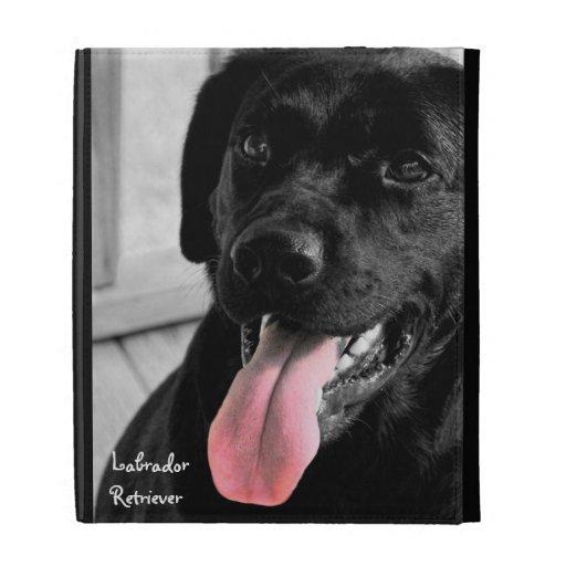 Black Lab iPad Folio Cover