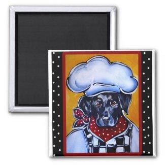 Black Lab Chef magnet