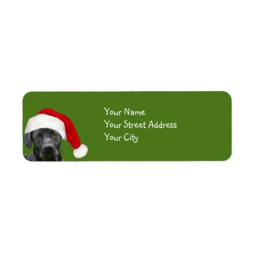 Black lab Christmas Return Address Label