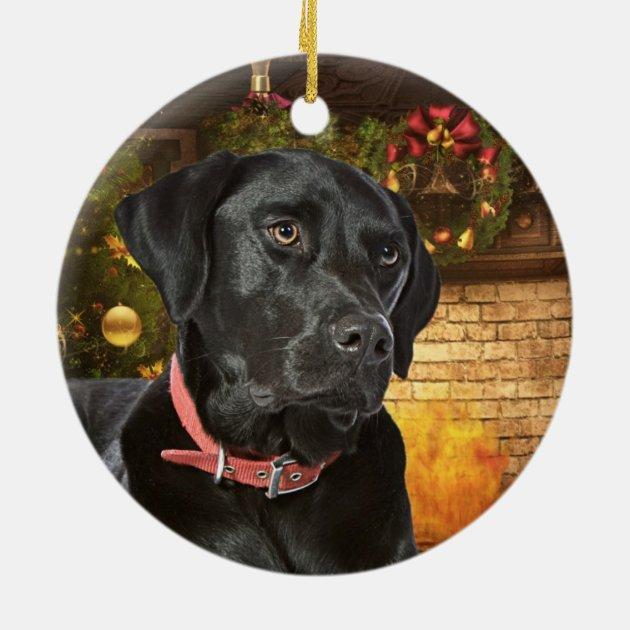 Black Lab Christmas Ornament | Zazzle.com