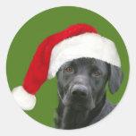 Black lab Christmas Sticker