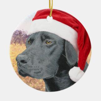 Black Lab Christmas Tree Ornaments