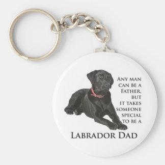 Black Lab Dad Keychain