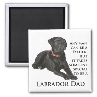 Black Lab Dad Magnet