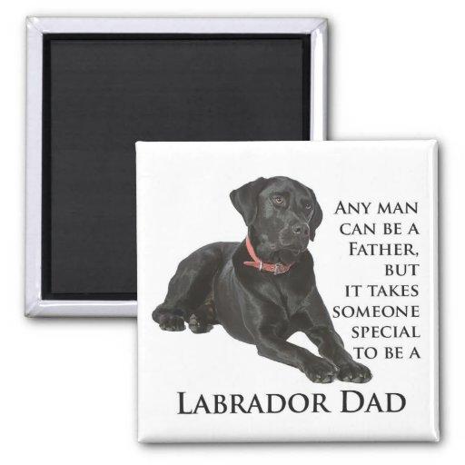 Black Lab Dad Magnet