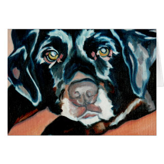 Black Lab Dog Greeting Card