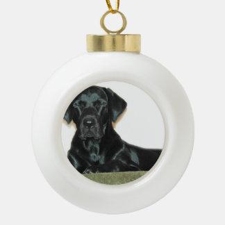 Black Lab Dog Ornament
