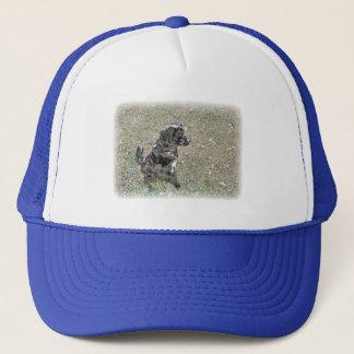 Black Lab Dog Waits Apparel Trucker Hat