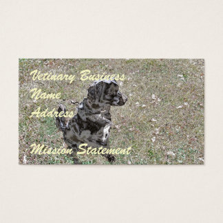 Black Lab Dog Watches Business Card