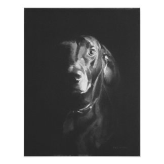 Black Lab Dog Watercolor by Paul Jackson Poster