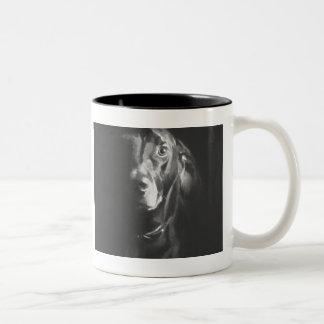 Black Lab Dog Watercolor by Paul Jackson Two-Tone Coffee Mug