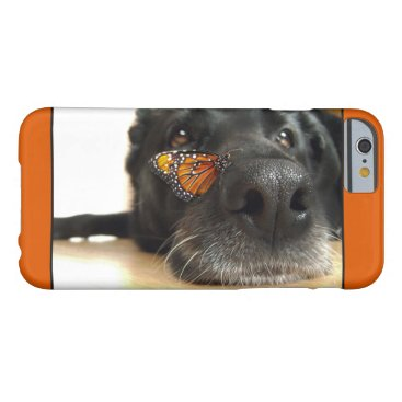 ironydesignphotos BLack Lab Dog With Butterfly Barely There iPhone 6 Case