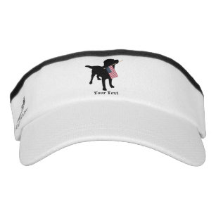 3d1ebf68c2f Black Lab Dog with USA American Flag