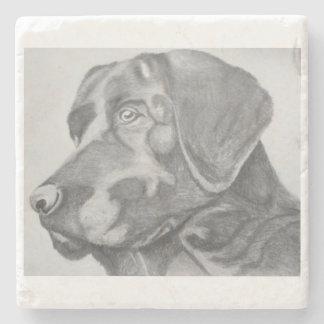 Black lab drink coaster