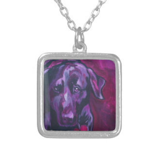 Black Lab Extraordinaire Silver Plated Necklace