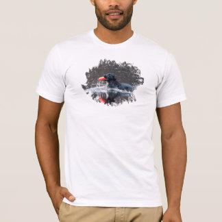 Black lab fetching floatie T-Shirt