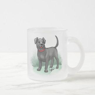 Black Lab Frosted Mug