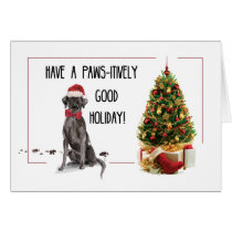 Black Lab Funny Christmas Dog and Tree