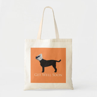 Black Lab Get Well Soon Design Tote Bag