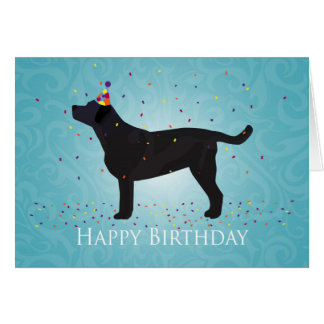 Black Lab Happy Birthday Design Card