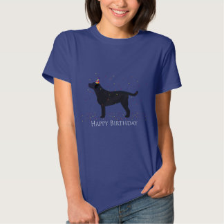 Black Lab Happy Birthday Design T Shirt