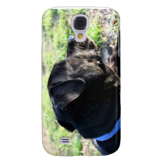 Black Lab Head Turned Away Picture Galaxy S4 Covers