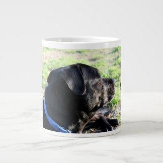 Black Lab Head Turned Away Picture Giant Coffee Mug