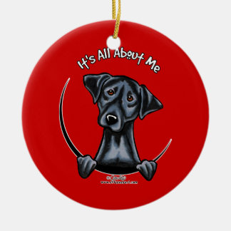 Black Lab Its All About Me Ceramic Ornament