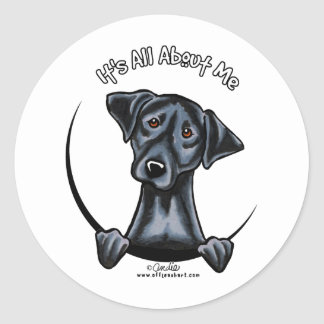 Black Lab Its All About Me Classic Round Sticker