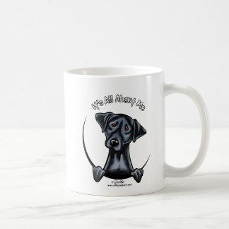 Black Lab Its All About Me Basic White Mug
