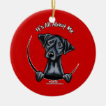 Black Lab Its All About Me Double-Sided Ceramic Round Christmas Ornament