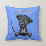 Black Lab Its All About Me Pillow