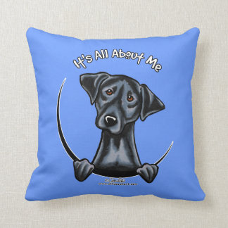 Black Lab Its All About Me Throw Pillow