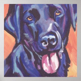 Black Lab Labrador Retriever Pop Art Print