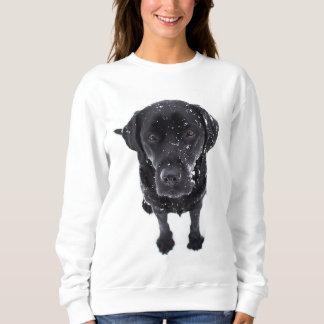 Black Lab - Labrador Snow Puppy Sweatshirt