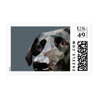 Black Lab Low Poly Art Postage