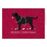 Black Lab Merry Christmas Design Greeting Card