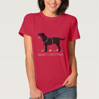 Black Lab Merry Christmas Design T Shirts