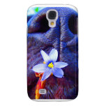 Black lab mix nose, small purple flower picture samsung galaxy s4 case