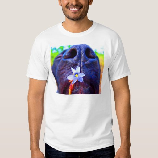 Black lab mix nose, small purple flower picture tee shirts