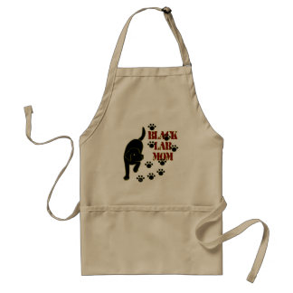Black Lab Mom Adult Apron