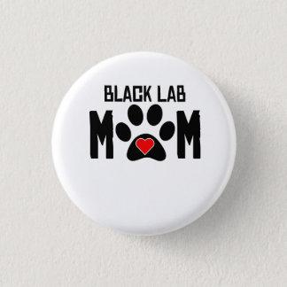 Black Lab Mom Button